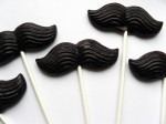 Mustache on a Stick Lollipops