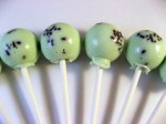 Mint Chocolate Chip Lollipops