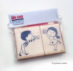 Tin Can Telephone Rubber Stamp Set
